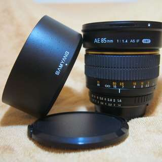 Samyang 85mm f/1.4 AE Version Nikon Mount