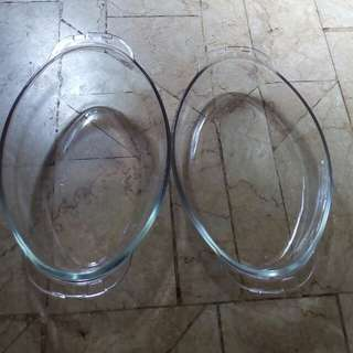 Backing dish 1 pair, wadah dan tutup
