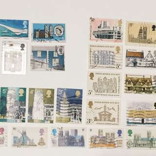 UK British Stamps Architecture collection