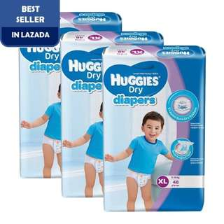 Huggies Dry Diapers XL48 Super Jumbo (3 pack)