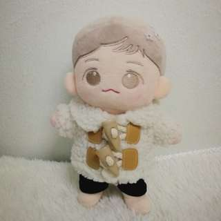 EXO BTS Doll clothes (white winter coat)