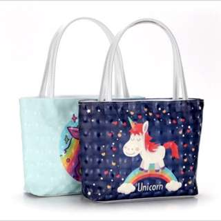 Splash proof unicorn small ladies bag with Long handle
