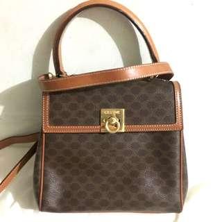 Celine 中古兩用袋 macadam two Way Bag 非YSL Dior Valentino Ferragamo Chanel