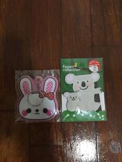 Bunny Keychain and Koala Post-It Set