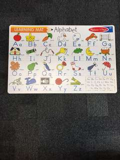 Melissa and Doug alphabet mat