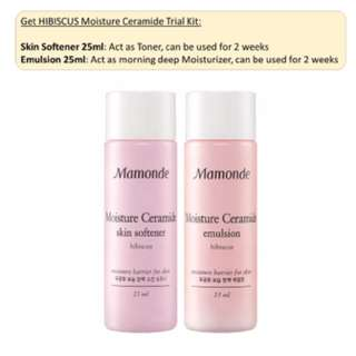 Mamonde hibiscus trial set - 25ml each