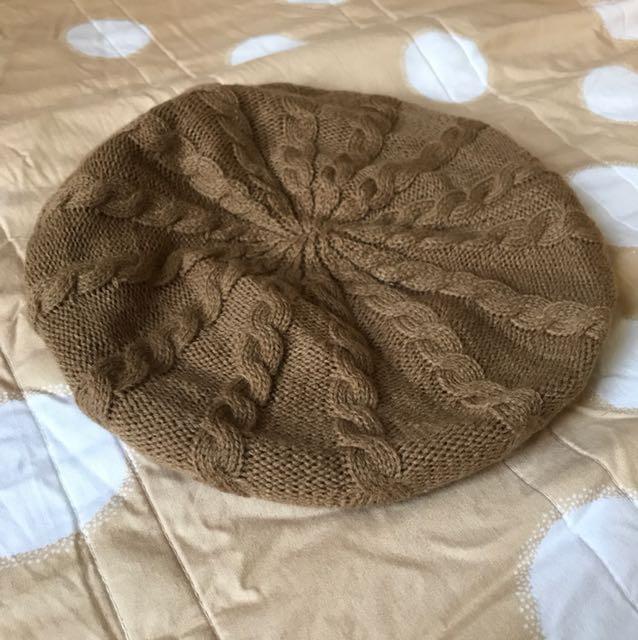 針織貝蕾帽