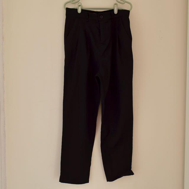 東京著衣 黑色顯瘦西裝褲