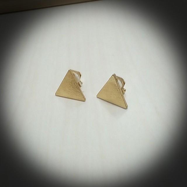 夾式   三角  耳環
