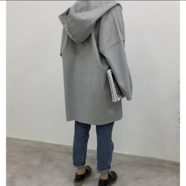 灰色 拉鍊 男友風 外套