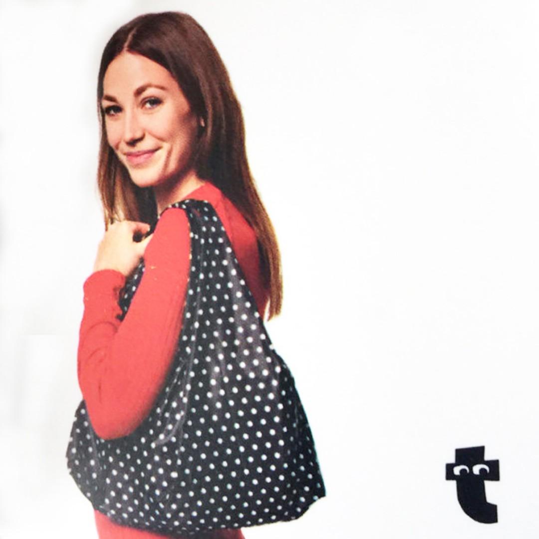 丹麥 知名連鎖雜貨店 Flying Tiger 波點 多功能折疊購物袋 手提袋 環保袋 環保購物袋
