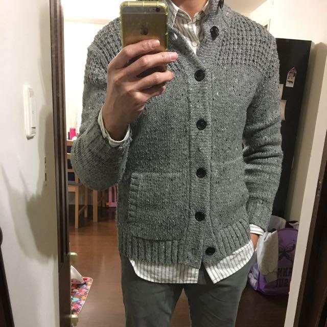 二手 UNIQLO 開襟羊毛衣 M 厚