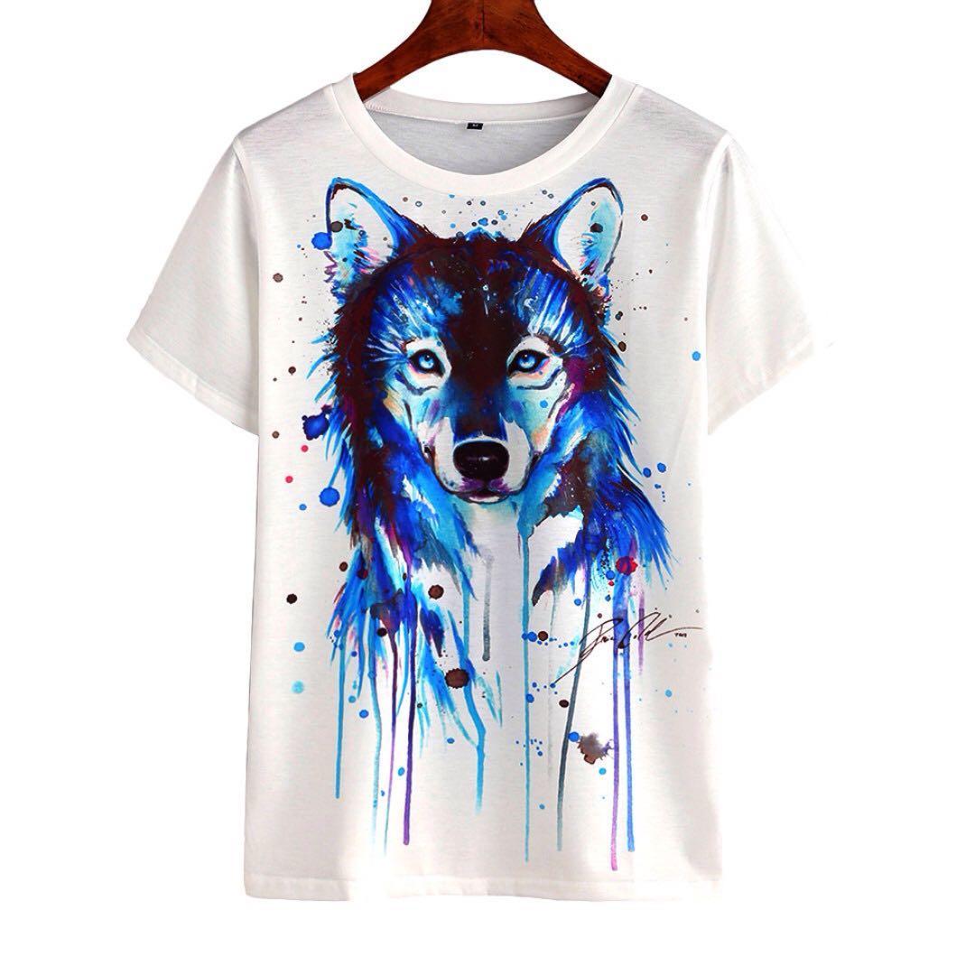 🆕 Wolf Printed Shirt