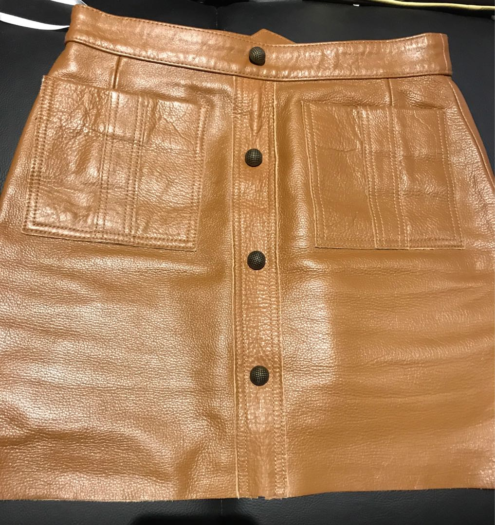 Aje shrimpton leather skirt 8