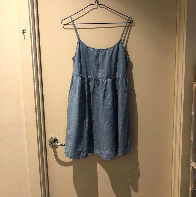 American Apparel Denim Smock Dress