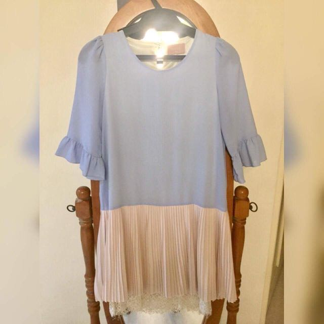 Baby blue korean insipred dress 💕