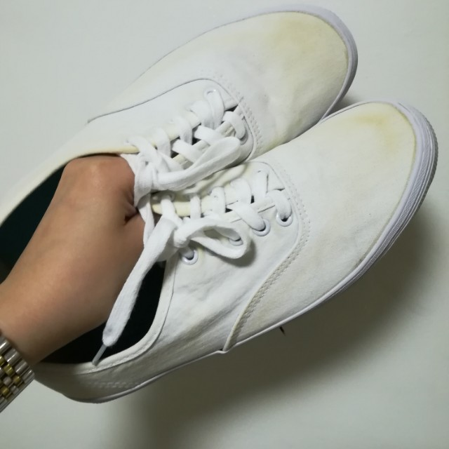 Basic White Sneakers For Women- Size 8