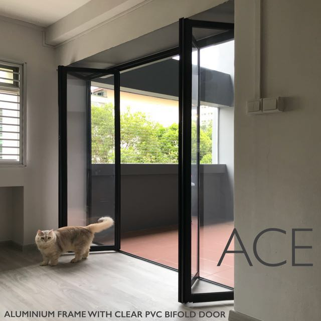 Bifold Door For Balcony Kitchen Study Room Walk In Wardrobe Etc Furniture Home Living Furniture Other Home Furniture On Carousell