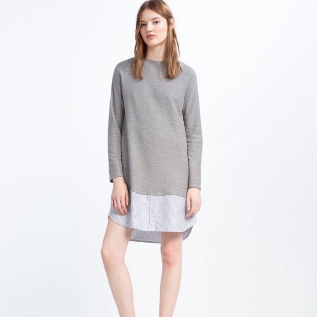 b6464bb9c0bc BN) 💯 Authentic Zara Contrast Dress in Size XS, Women's Fashion ...