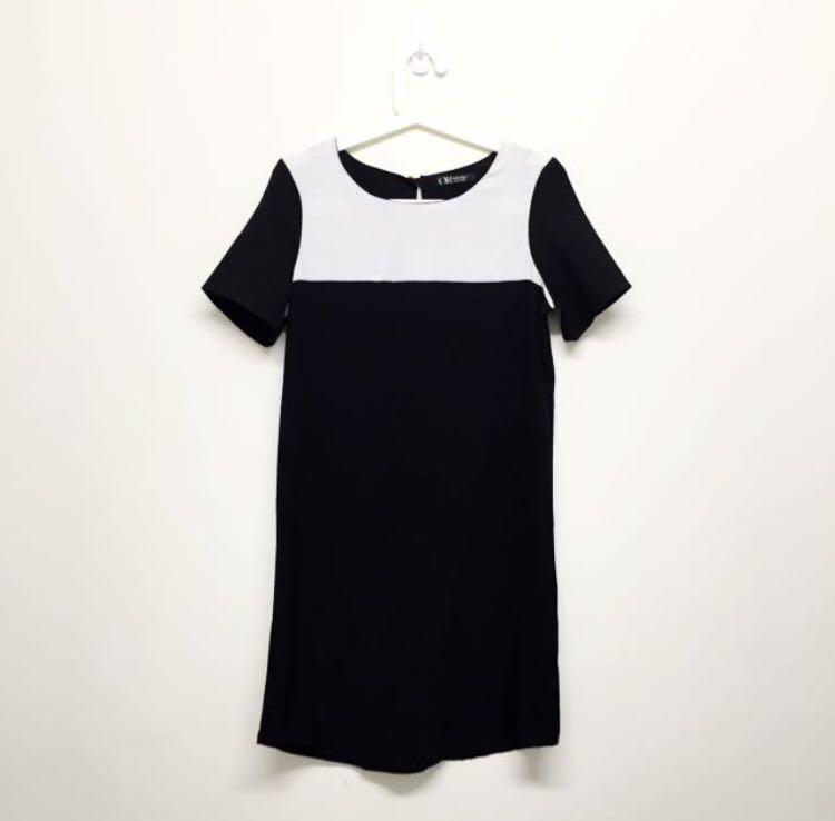 [BN] colour block shift dress