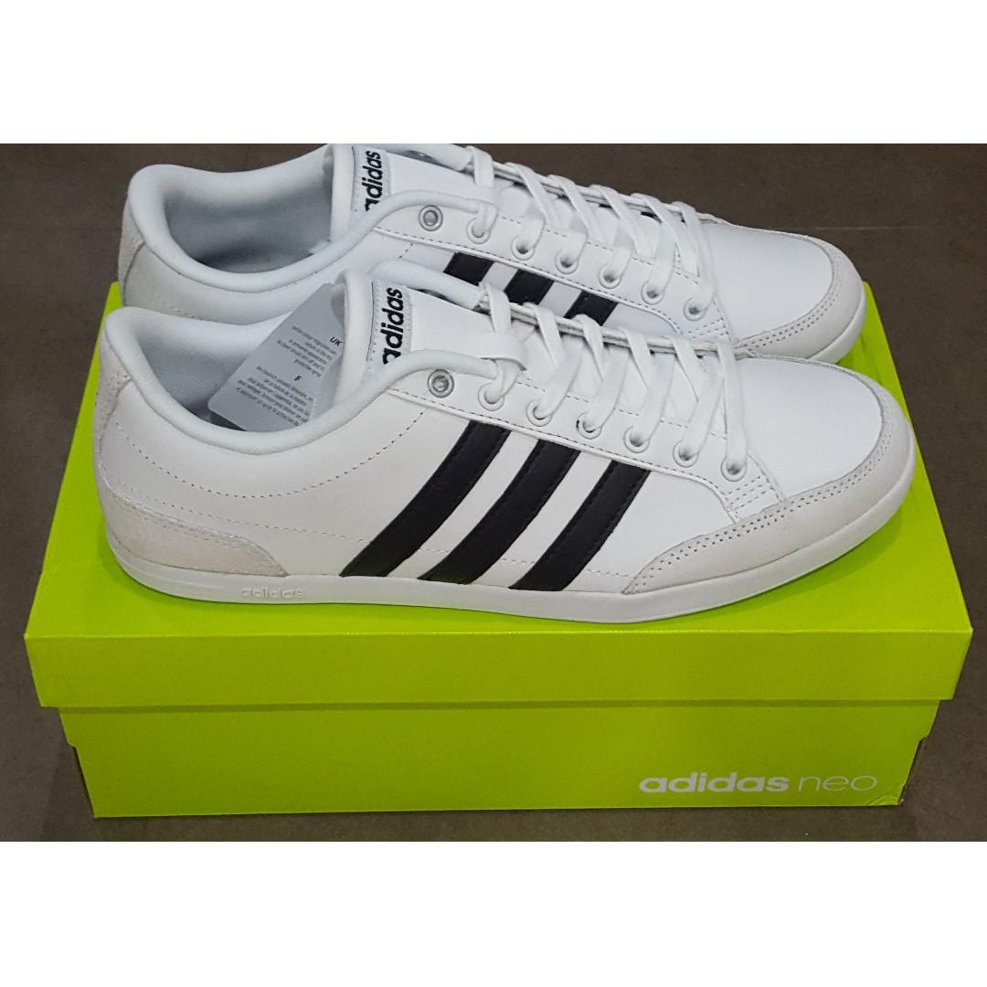 87c040215e6aa BNIB Adidas Mens Caflaire White Core Black Matte Silver Lace Up ...