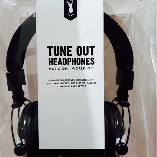 BNIB TUNE OUT HEADPHONES BY TYPO