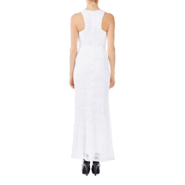 BNWT Guess Lexi Lace White Maxi Formal Bridal Dress