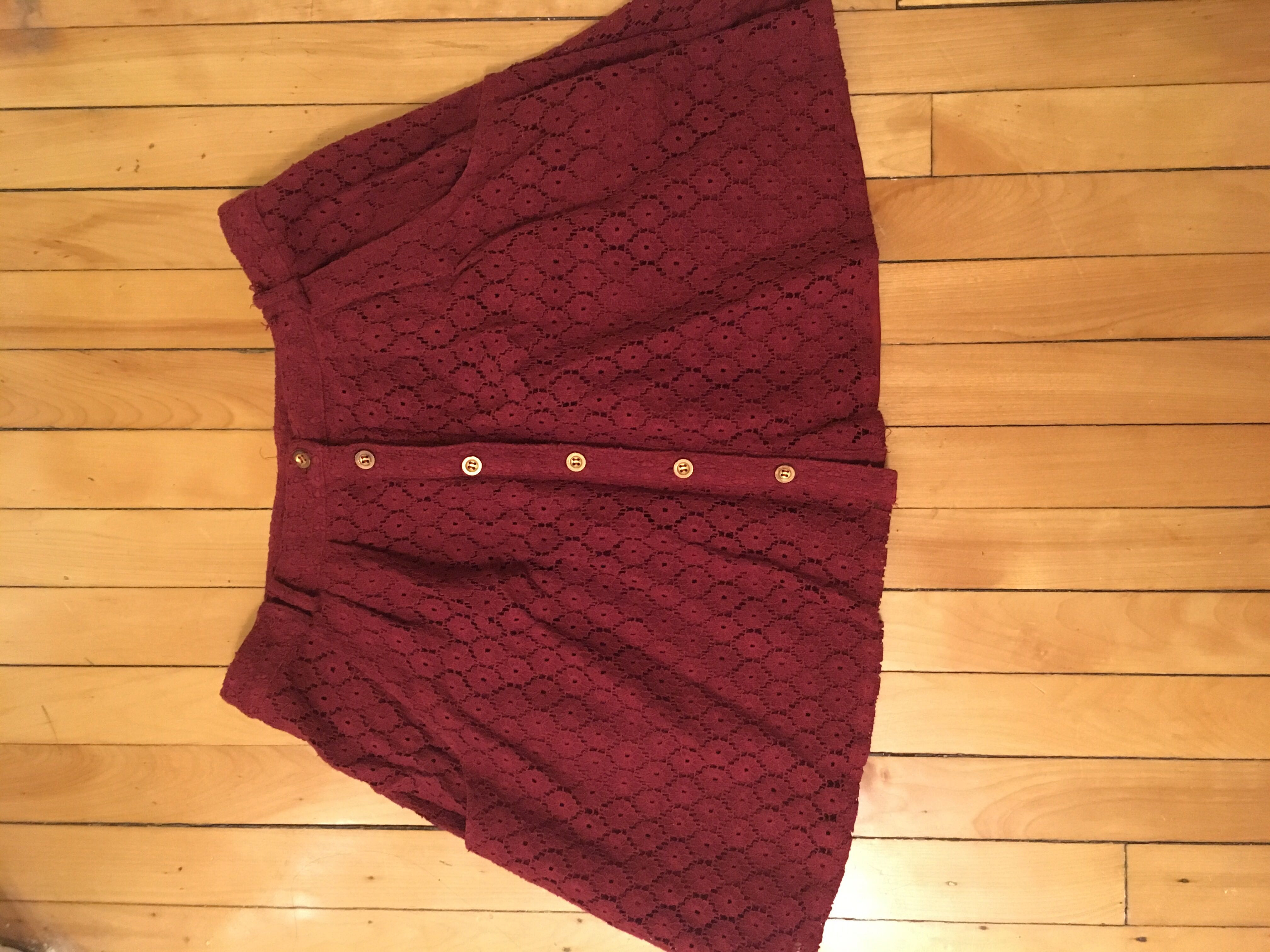 Boohoo Burgundy summer skirt