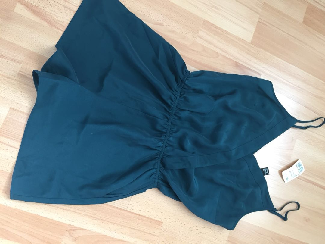 Brand New With Tags Emerald Green Romper