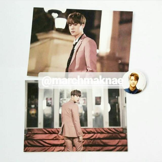 BTS ON STAGE: EPILOGUE OFFICIAL PHOTO & PIN BUTTON (JIN)