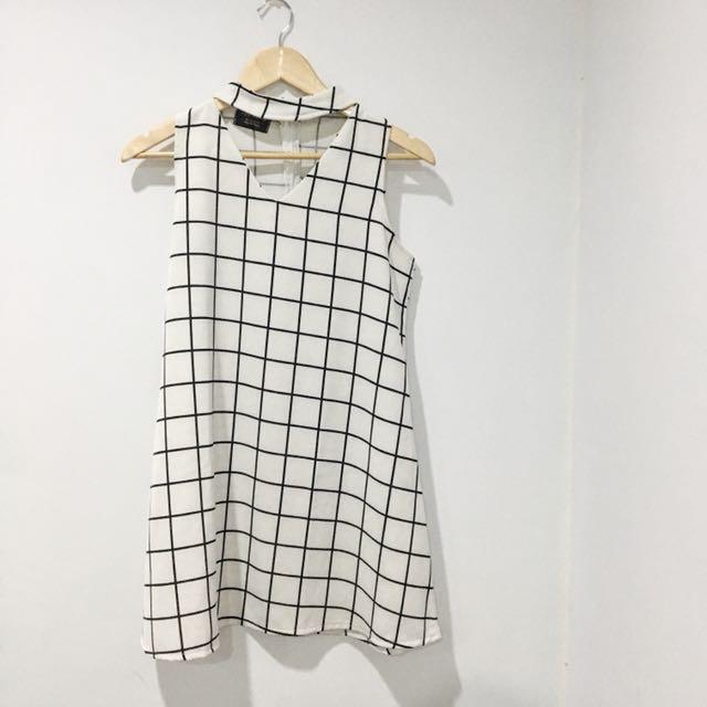 Choker Plaid Dress