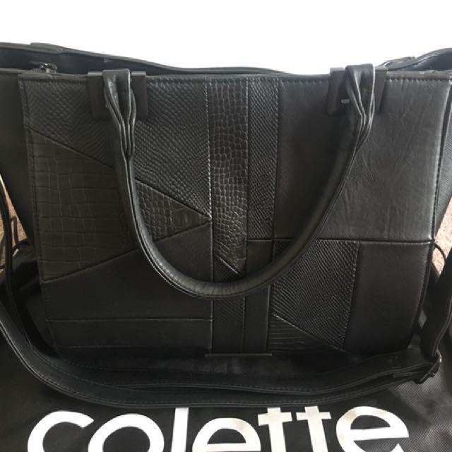 COLETTE matte black handbag