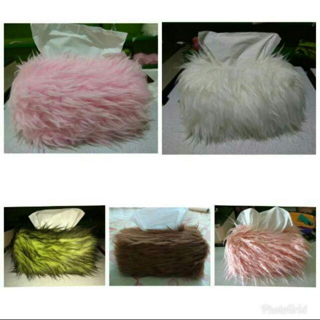 Cover Tempat Tissue Bulu Korea