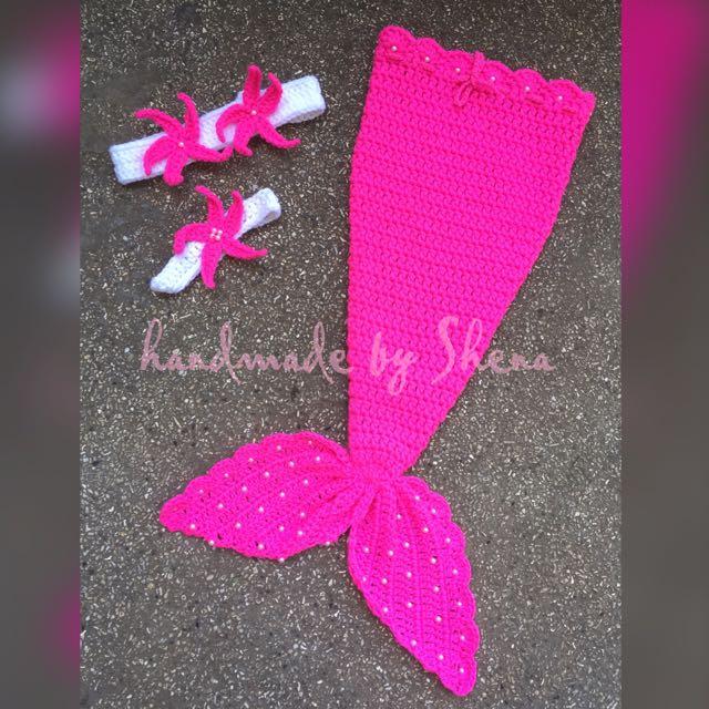 Crochet Mermaid Tail Set