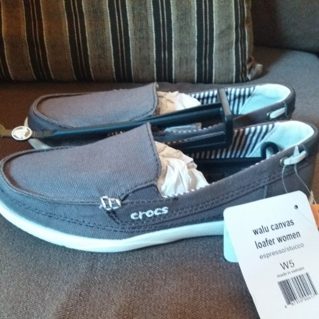 Crocs Canvas Loafers Size 5