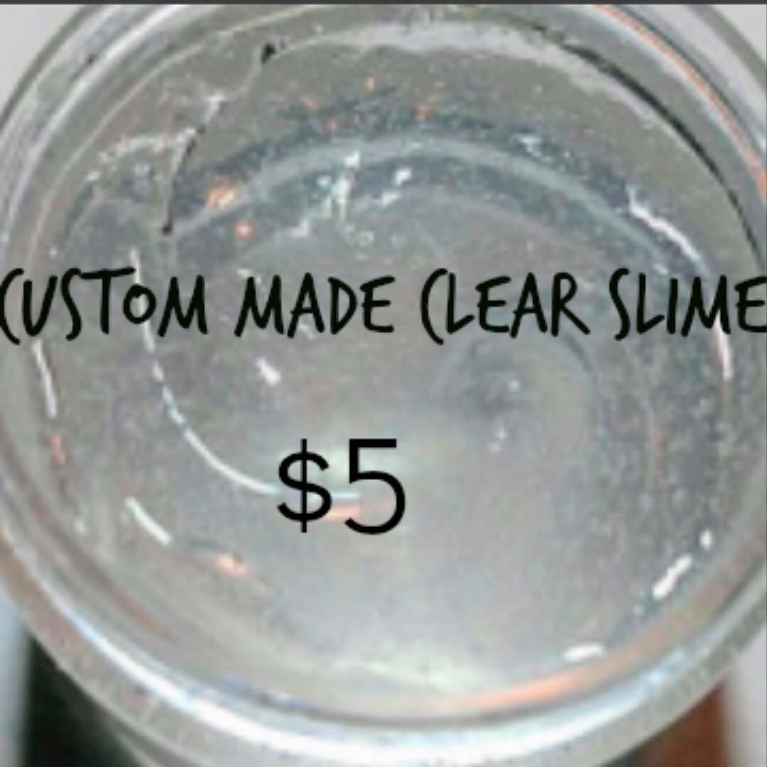 CUSTOM MADE CLEAR SLIME | 3.50Z