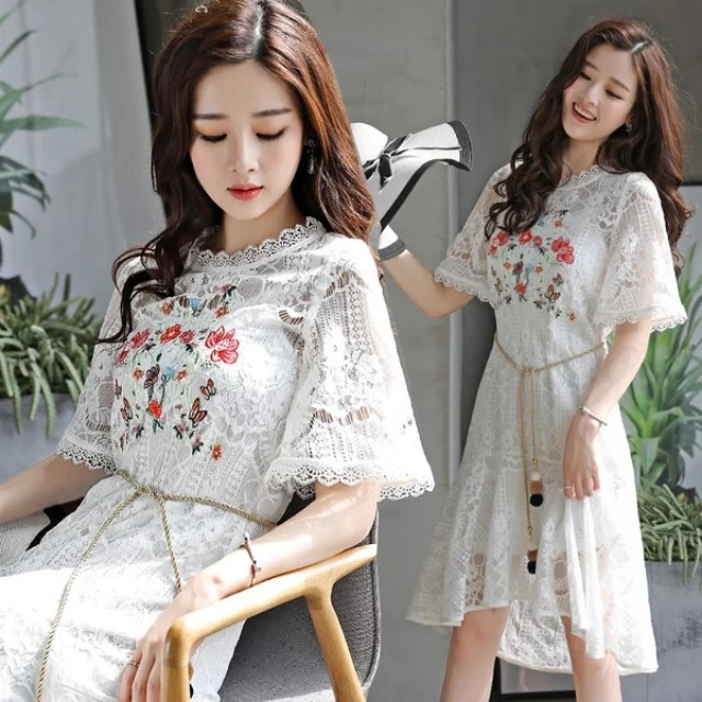 Embroidery Lacey Dress
