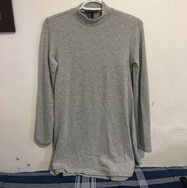 f21 mock neck sweater dress