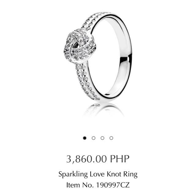 FOR SALE PANDORA LOVE KNOT RING!