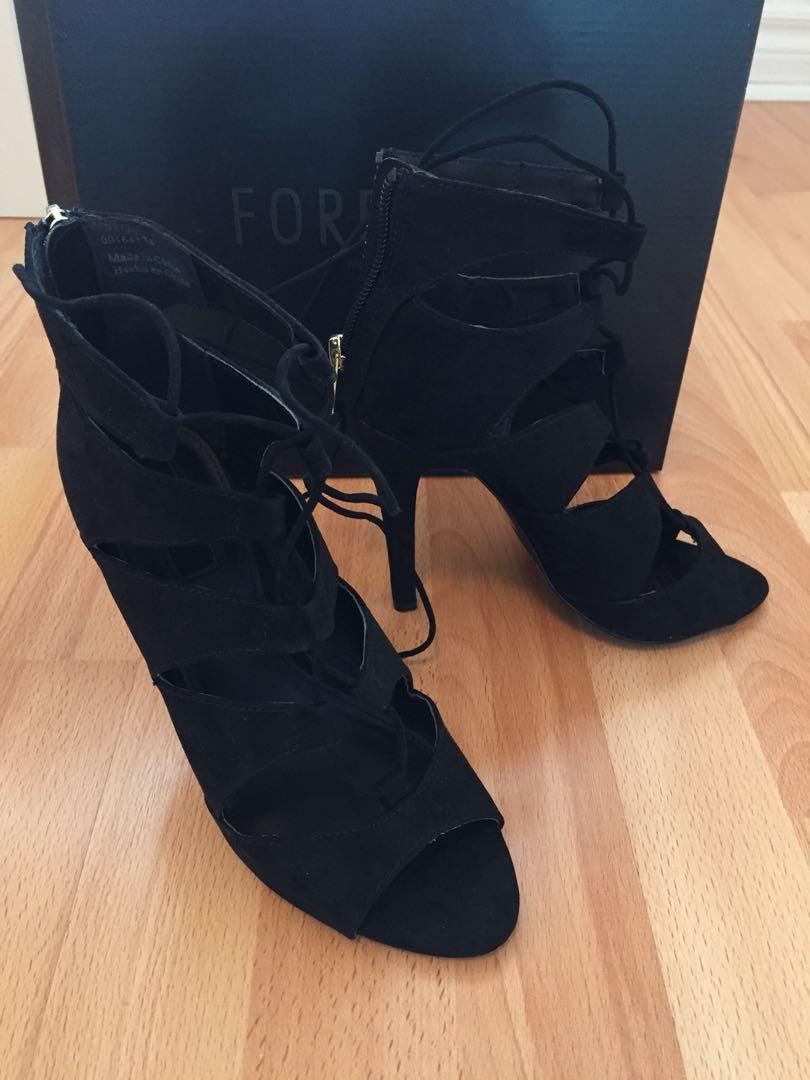 Forever 21 Tie Up Heels