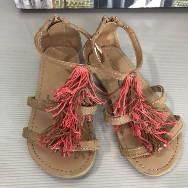 Girl's Fringe Sandals (sze9)