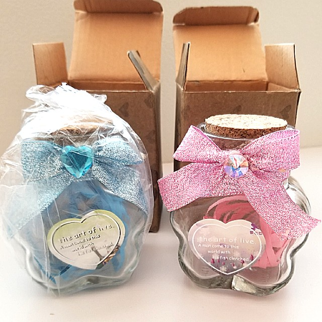 Glass Jars with Confetti