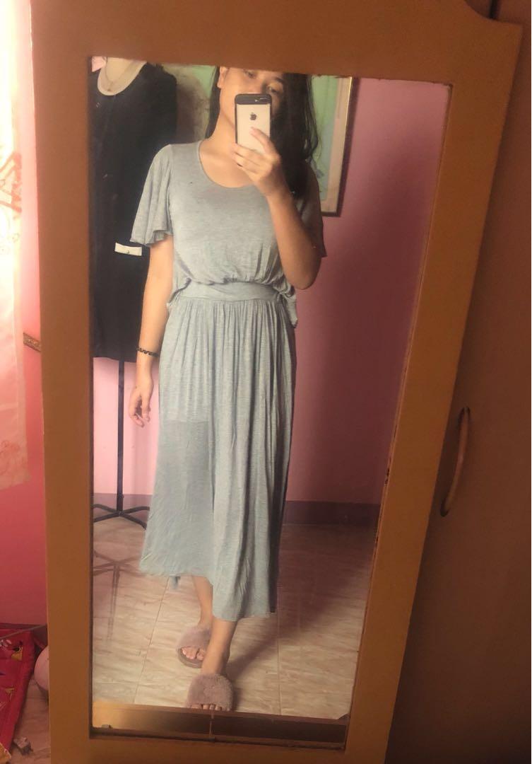 Gray Maxi Dress