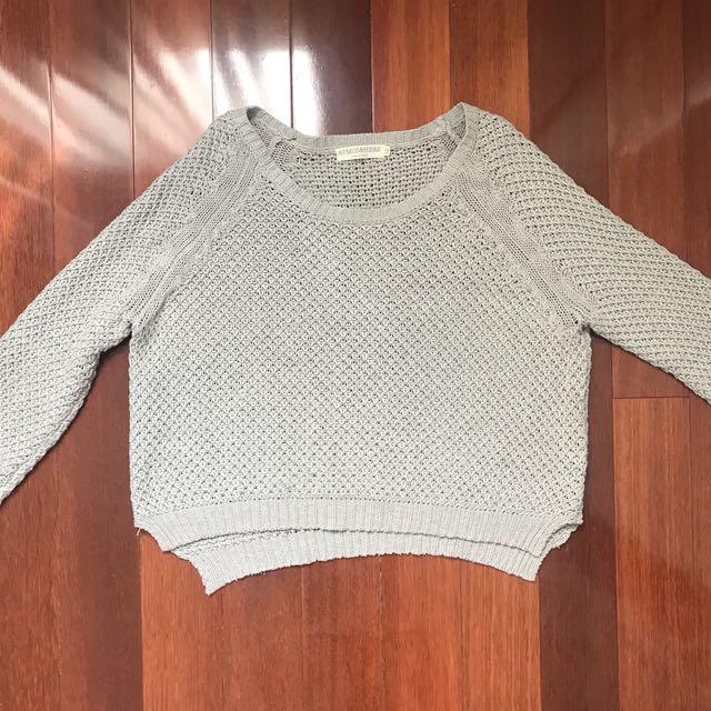 Grey cropped jumper