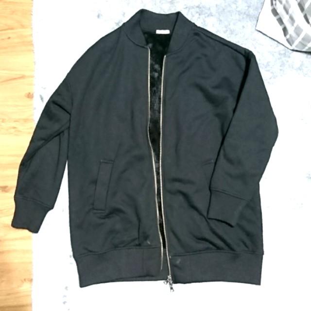 【二手】GU刷毛長版外套