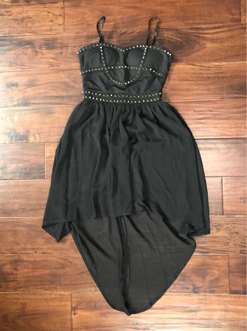 High-Low Dress with Removable Straps
