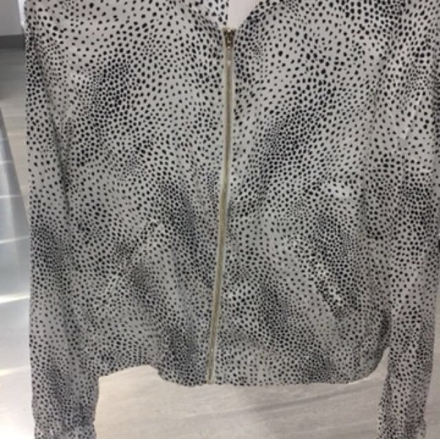 H&M satin leopard jacket woman