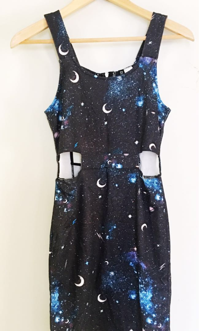 H&M Space Moonlight Fitted Dress