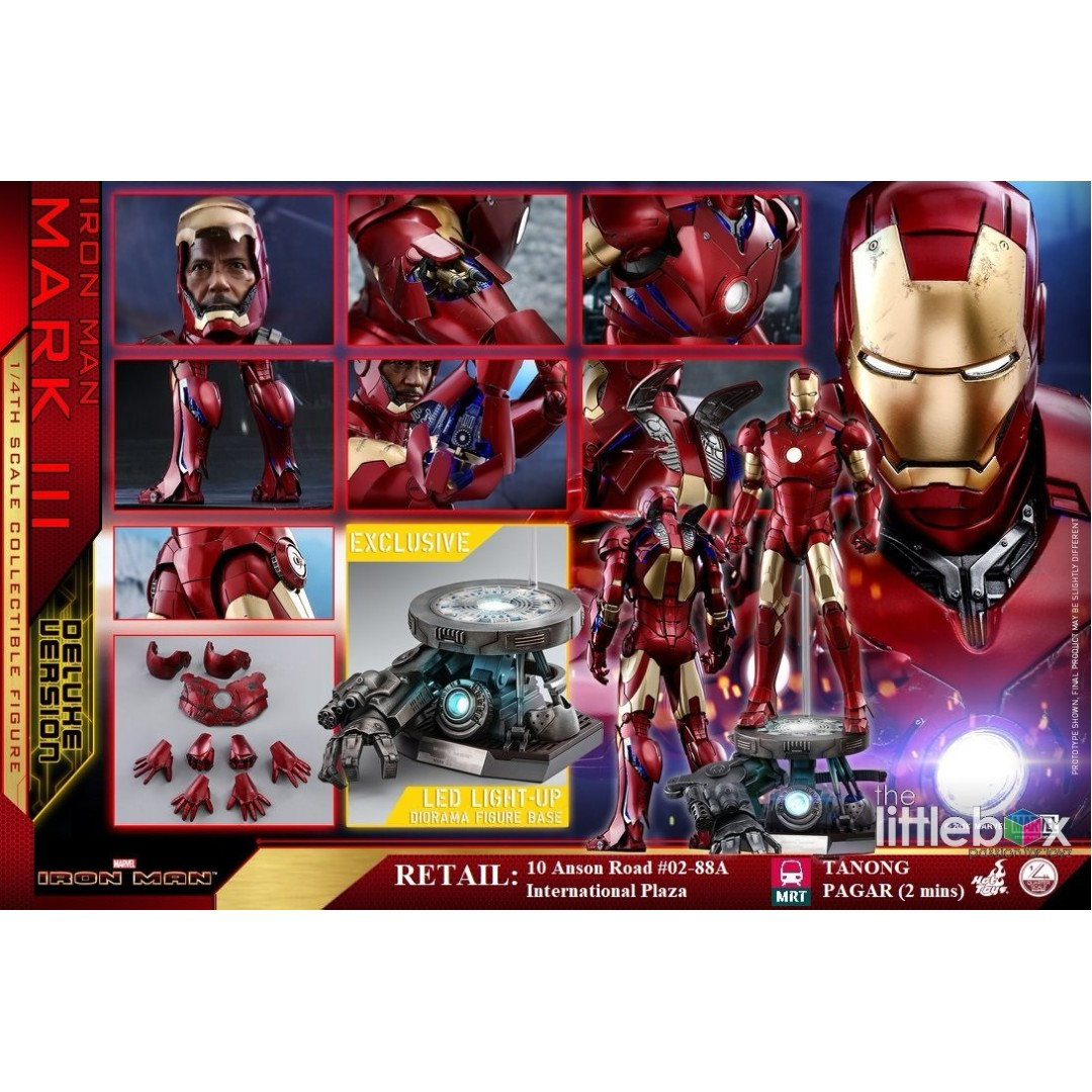 Hot Toys Iron Man Mark Iii Deluxe Version Qs012 1 4 Scale 25 Striker Games Bricks Figurines On Carousell
