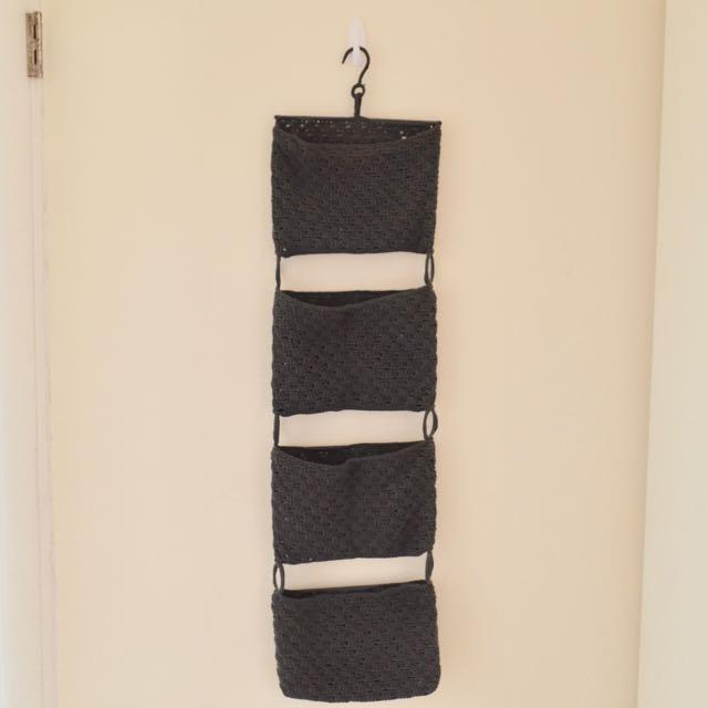 Ikea可掛式四連收納針織袋
